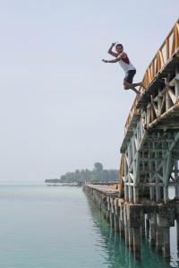 Jump at Tidung Island