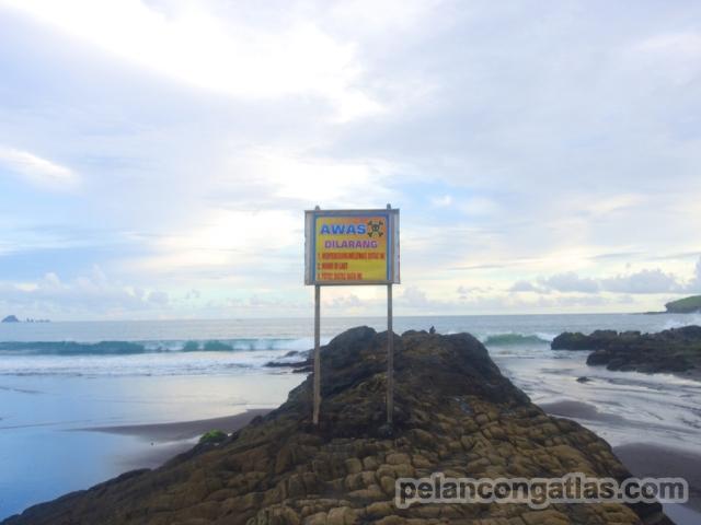 Batu bersisik di Pantai Watu Ulo. Mirip sisik ular nggak sih?